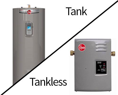 Hot water tanks