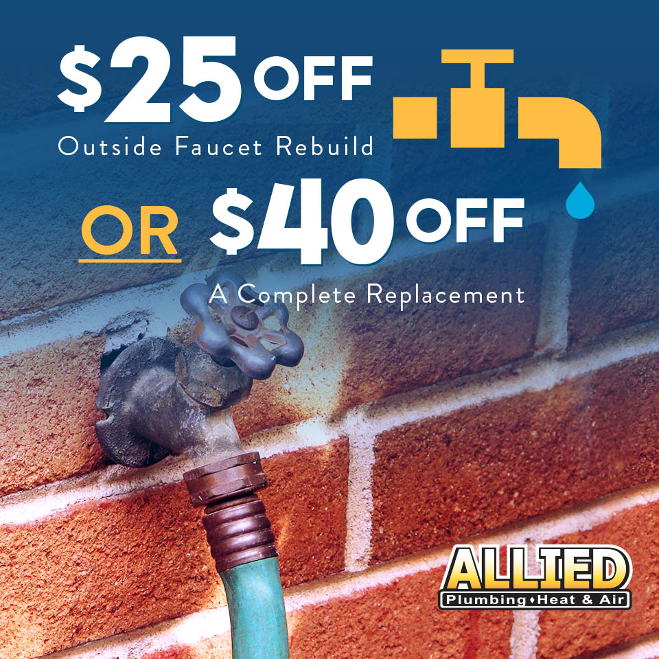 $25 Off Outside Faucet Rebuild or $40 Off a Complete Replacement